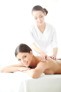 Woman enjoying in a health spa