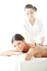 Woman enjoying in a health spa